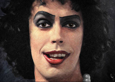 B-movie Painting - Dr. Frank N. Furter by Taylan Apukovska
