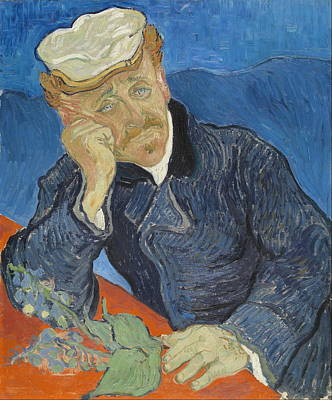 Real Experiences Painting - Dr Paul Gachet 1890 by Vincent Van Gogh