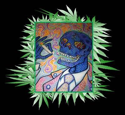 Jordan Drawing - Dr. Smokey 420 Remix by Jordan Kotter