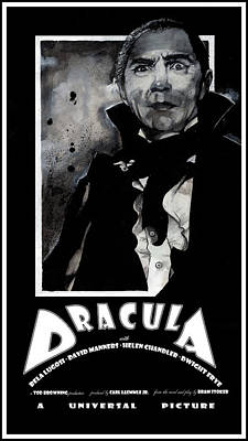 Mixed Media - Dracula Movie Poster 1931 by Sean Parnell