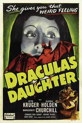 Daughter Mixed Media - Dracula's Daughter 1936 by Mountain Dreams