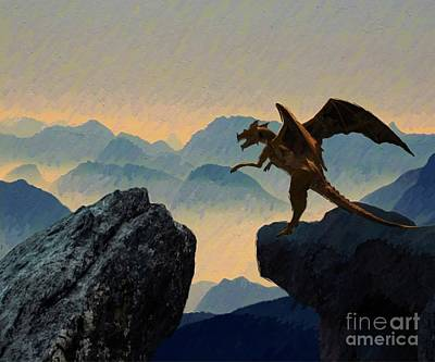 Science Fiction Royalty-Free and Rights-Managed Images - Dragon Lair by Mary Bassett