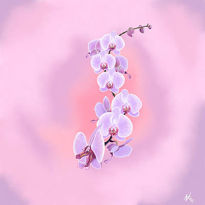 Digital Art - Dragon Orchid by Norman Klein