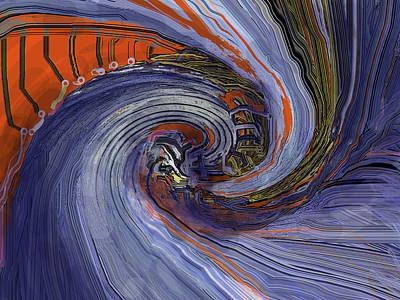Digital Art - Dragon Wars by Ian  MacDonald