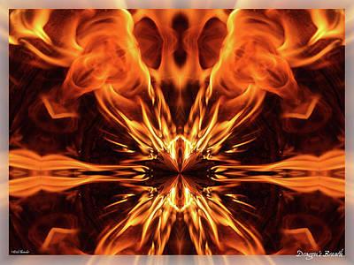 Mixed Media - Dragon's Breath by Rick Thiemke