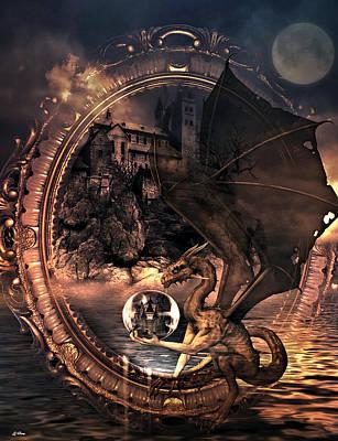 Dragon Castle Frame Art Print