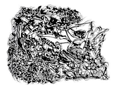 Drawing - Dragons by Daniel Schubarth