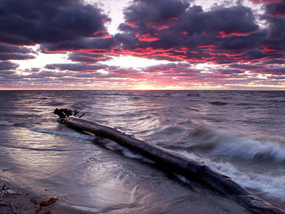 Photograph - Drama Over Lake Erie by At Lands End Photography