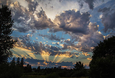 Photograph - Dramatic Skies by Angie Vogel