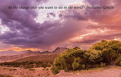 Elpaso Photograph - Dramatic Sunset by Subhadra Burugula