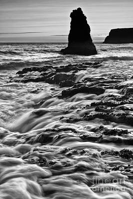 Ocean Vista Photograph - Dramatic View Of A Sea Stack In Davenport Beach, Santa Cruz. by Jamie Pham