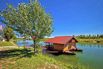 Photograph - Drava River Floating Wooden Cabin by Brch Photography