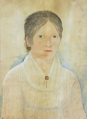 Drawing Painting - Drawing Of A Young Girl by John Paradise