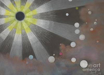 Drawn To The Black Hole Art Print by Janet Hinshaw
