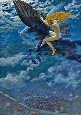 Photograph - Dream Idyll A Valkyrie by Edward Robert Hughes