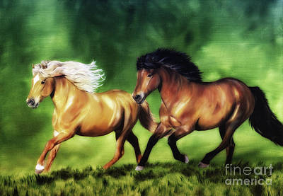 Dream Team Art Print by Shari Nees