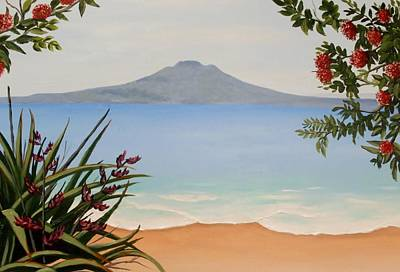 Painting - Dreaming Of Rangitoto by Anne Gardner