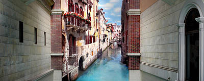 Dreaming Of Venice Panorama Art Print by Az Jackson