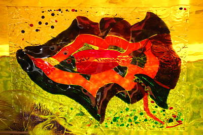 Fused Glass Mixed Media - Dreamtime Barramundi by Sarah King
