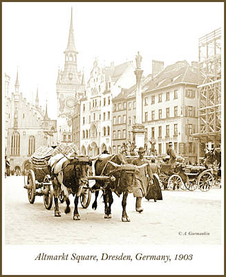 Photograph - Dresden, Altmarkt Square, Germany, 1903 by A Gurmankin