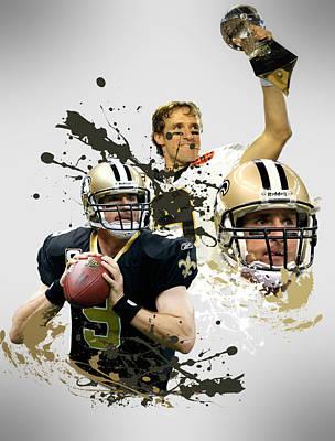 New Orleans Saints Photograph - Drew Brees Saints by Joe Hamilton