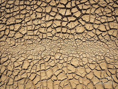 Photograph - Dried And Cracked Soil In Arid Season. by Tosporn Preede