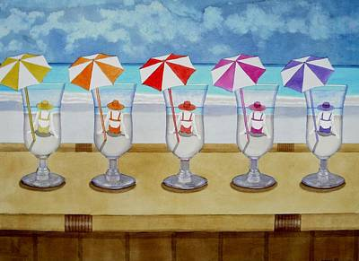 Painting - Drinks On The Beach by Cory Clifford