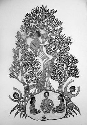 Gond Art Painting - Dsu 16 by Dhavat Singh Uikey
