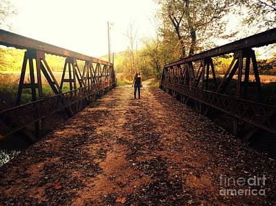 Dual On The Bridge At Dusk Art Print by Scott D Van Osdol
