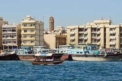 Photograph - Dubai Creek And Abra Boats by Jouko Lehto