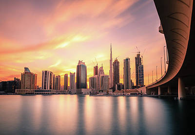 Photograph - Dubai Downtown Skyline by Alexey Stiop