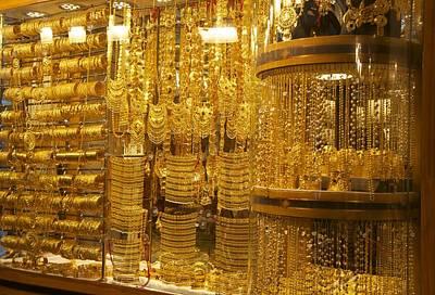 Pure Gold Photograph - Dazzling Dubai Gold  by Art Spectrum