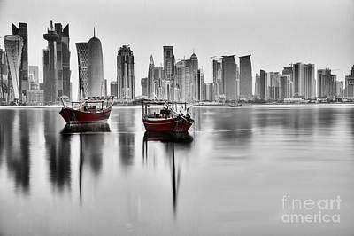 High Rise Painting - Dubai High Rise by Gull G