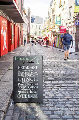 Photograph - Dublin Menu by Jim Orr