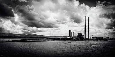 Photograph - Dublins Poolbeg Chimneys by Lexa Harpell
