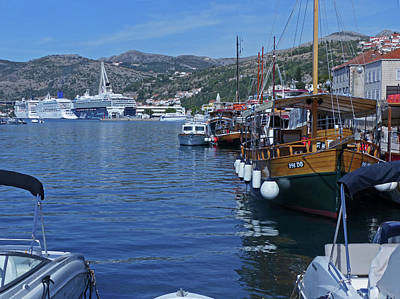 Photograph - Dubrovnik Harbour by Phil Banks