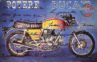 Ducati Gt 750 Art Print by Yurdaer Bes