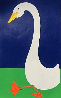 Painting - 1 Duck by Matthew Brzostoski