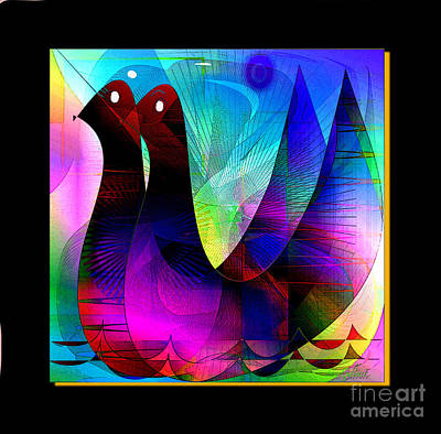 Digital Art - Ducks by Iris Gelbart