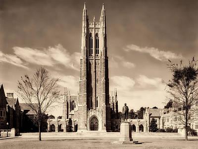 Photograph - Duke University Chapel 1900s by Mountain Dreams