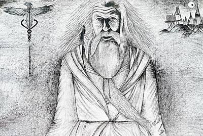 Dumbledore Painting - Dumbledore by Swetha Patil