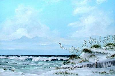 Painting - Dune Fence by Gary Partin