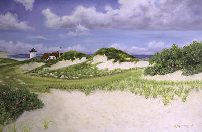 Cape Cod Painting - Dunes And Race Point Light by Richard Ramsey