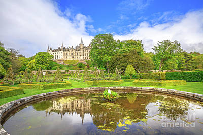 Photograph - Dunrobin Castle Fountain by Benny Marty
