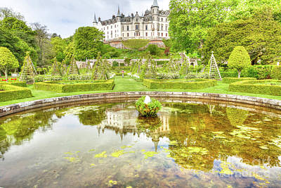Photograph - Dunrobin Castle Reflected by Benny Marty