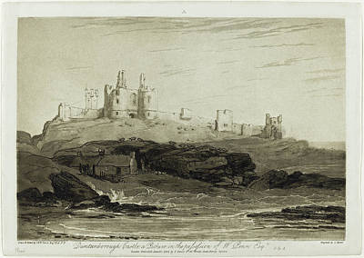 Painting - Dunstanborough Castle by Joseph Mallord William Turner and Charles Turner