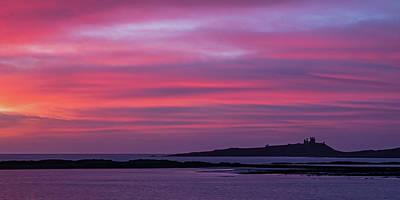Photograph - Dunstanburgh Castle Sunrise by David Pringle