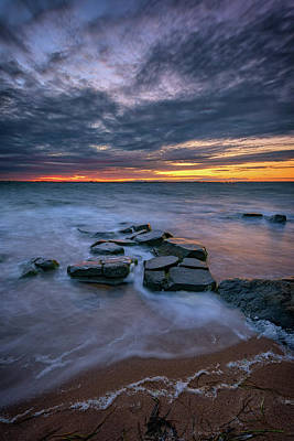 Photograph - Dusk On Fire Island by Rick Berk
