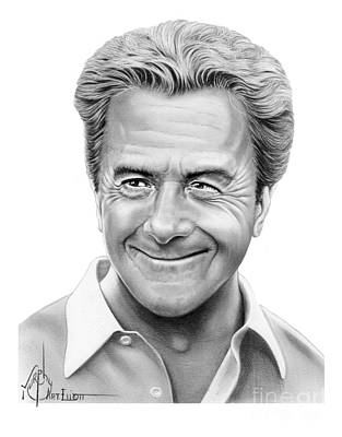 Captain Hook Drawing - Dustin Hoffman by Murphy Elliott