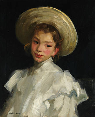 Ashcan School Painting - Dutch Girl In White by Robert Henri